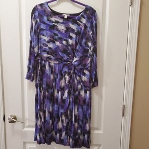 Pruple knee length  dress